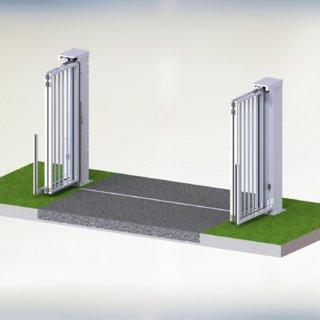 Speedgate Ondergeleiding 3D open binnenaanzicht